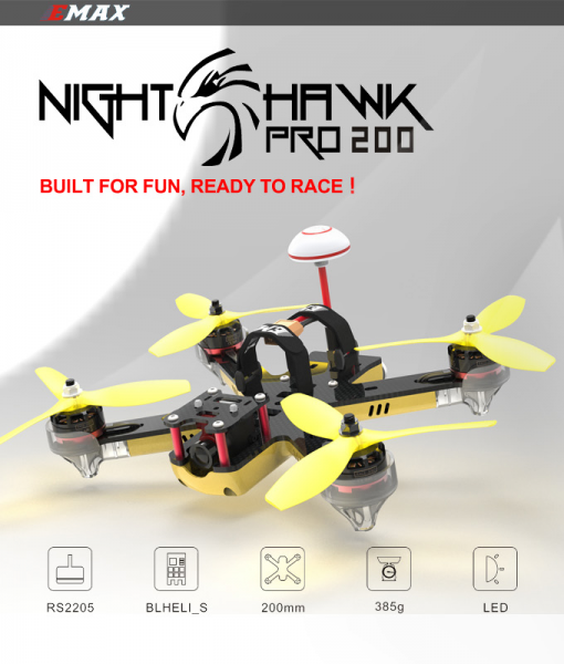 Emax Nighthawk Pro 200 200mm F3 FPV Racing Drone PNP